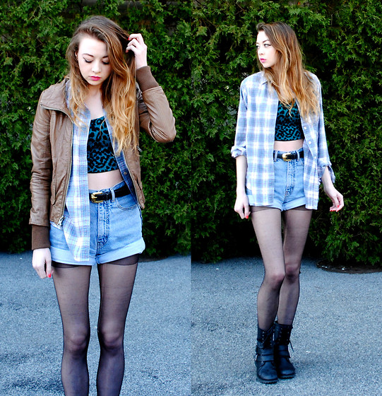 crop-top-with-plaid-shirt