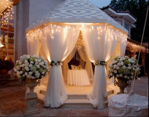 Romantic gazebo for party or wedding